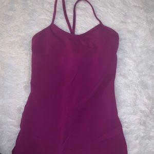 lululemon purple/magenta power y tank top